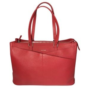 Red Leather Cole Haan Tote